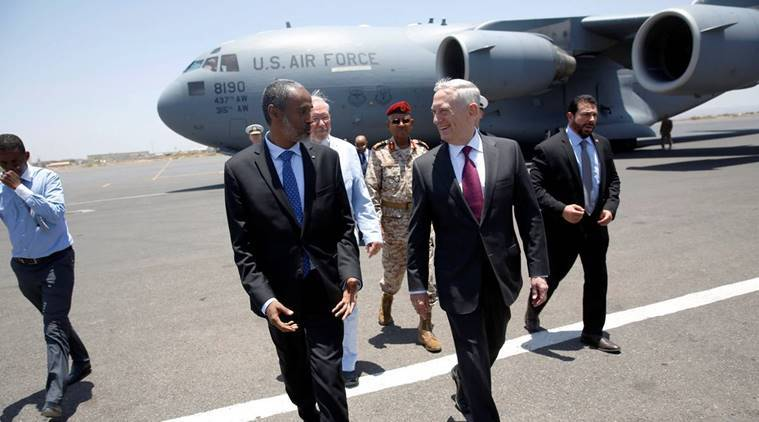 US defence secretary visits military base used to strike Yemen