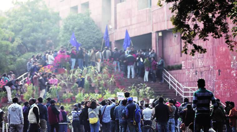 JNU, JNU boarders, JNU fellowship money, JNU MPhil scholars, JNU PhD scholars, JNU protest, JNU news, Delhi, Delhi news, Indian Express, India news