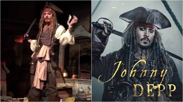 Surprise! Johnny Depp appears as Jack Sparrow on Disney ride