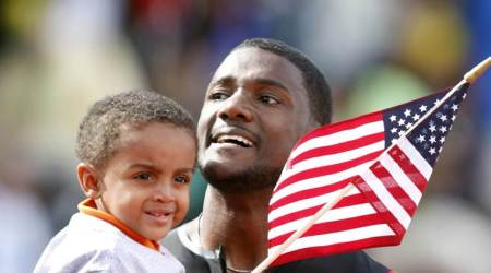 Justin Gatlin, IAAF World Relays, Canada, Jamaica, Andre De Grasse, United States, USA, Leshon Collins, Mike Rodgers, Ronnie Baker, sports stories, Indian Express