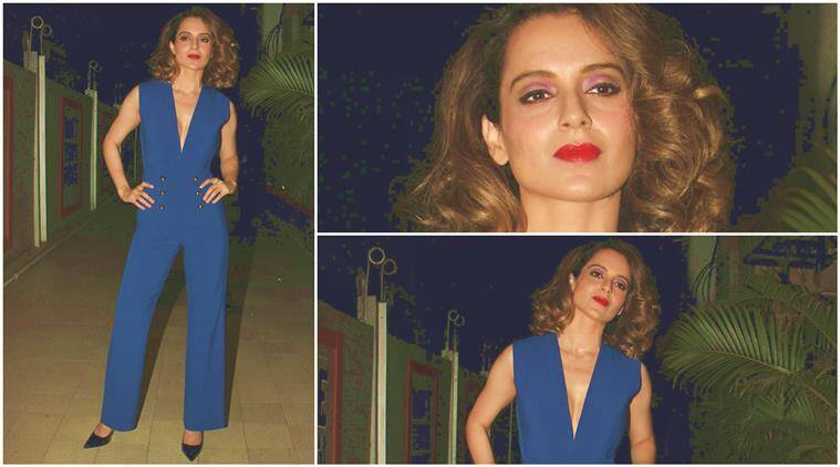 Kangana Ranaut looks fiery in cobalt blue Michelle Mason jumpsuit