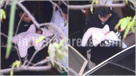Karan Johar, Yash and Roohi, roohi and Yash, Karan johar babies, karan johar twin babies, twin babies karan johar, father karan johar, single father karan johar, karan johar single father, karan johar talks babies, twin babies yash and roohi, roohi and yash twin babies, karan johar twin babies updates, karan johar updates, karan johar life, karan johar personal life, indian express, entertainment news, bollywood updates, karan johar twins pics