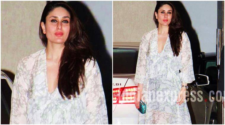 kareena kapoor khan, kareena kapoor khan actress, kareena kapoor khan fashion, kareena kapoor khan babita birthday bash, kareena kapoor at mother birthday bash, kareena babita birthday party, kareena kapoor fashion, kareena kapoor printed maxi dress, kareena kapoor deme by gabriella, babita birthday bash, fashion, lifestyle, indian express, indian express news