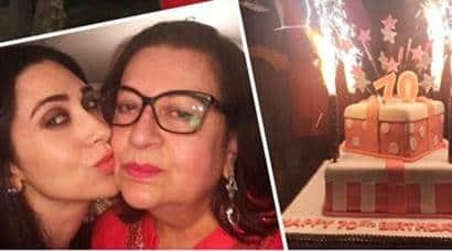 kareena kapoor, karisma kapoor, babita birthday, karisma kareena, babita birthday pics