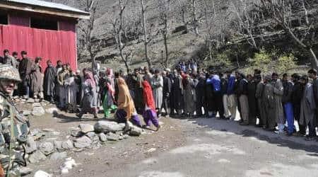 Srinagar violence, Srinagar bypolls protest, srinagar bypolls, Srinagar bypolls postponed, Election Commission on Srinagar bypolls, Budgam bypolls, srinagar by elections, jammu kashmir, kashmir, latest news