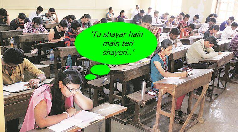 students write shayari in bengal law exams, bollywood songs in law exam bengal, students bollywood songs bengal law exam, webst bengal university law exam students write shayari, kishore kumar lyrics in law exam bengal university, indian express, indian express news