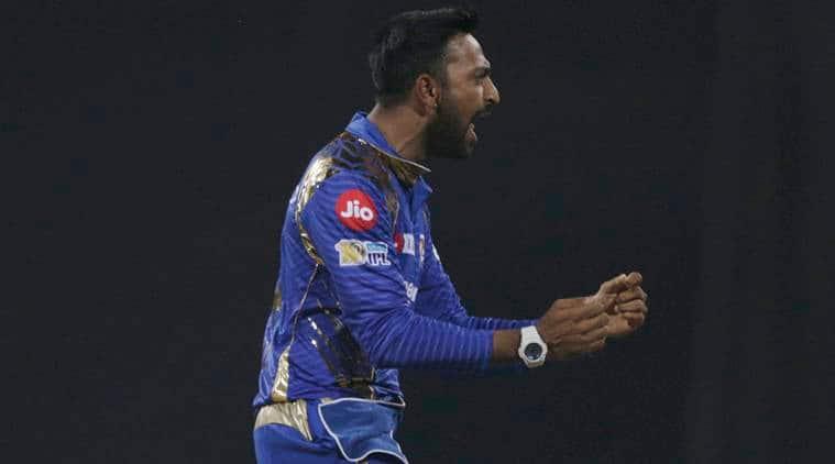 IPL 2017, IPL 2017 news, IPL 2017 updates, Krunal Pandya, Krunal Pandya catch, Krunal Pandya MI, Krunal Pandya Mumbai, sports news, sports, cricket news, Cricket, Indian Express