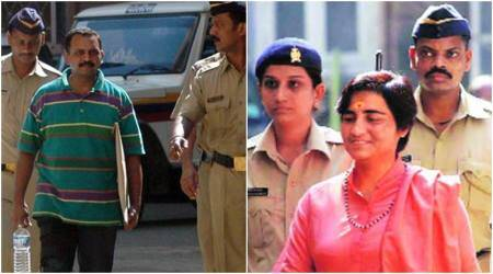 sadhvi pragya, sadhvi pragya bail, sadhvi pragya gets bail, Malegaon bomb blast, 2008 Malegaon bomb blast, Malegaon bomb blast-Maharashtra, Sadhavi Pragya, Col. Prasad Shrikant Purohit, NIA, Bombay high court, hindu extremist, india news, indian express