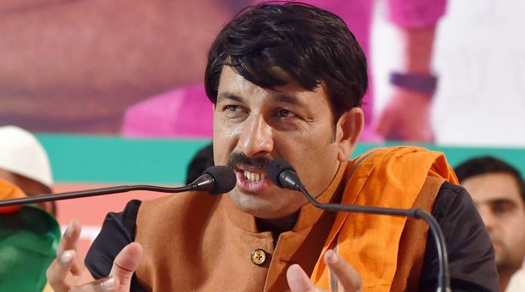 Manoj Tiwari, Manoj Tiwari attack, Manoj Tiwari house attack, Manoj Tiwari BJP, BJP attack, staff arrest, indian express news, india news