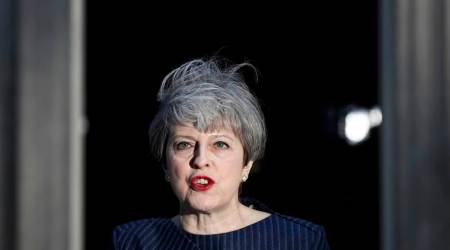 British PM Theresa May shows hardline stance against terror to calm the edgy electorate