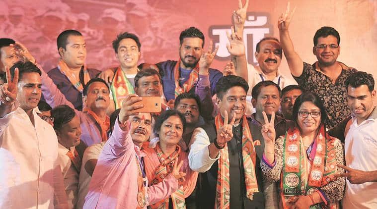 MCD poll, MCD election, municipal corporation delhi, BJP win, MCD poll result, MCD result, delhi elections, aap, congress, ajay maken, maken resign, indian express news, india news, delhi news, elections updates