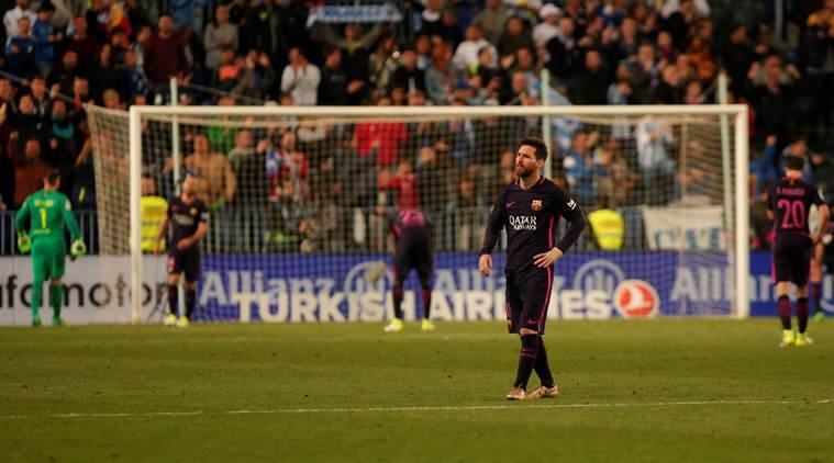 Barcelona Fall To Shock Defeat Against Malaga The Indian Express - Barcelona fc table