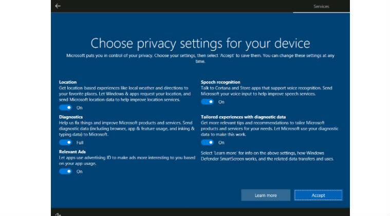 Microsoft, Windows 10, Windows 10 Creators Update, Creator update privacy settings, privacy for Windows 10, Windows 10 privacy, updates Windows 10, app, smartphones, technology, technology news