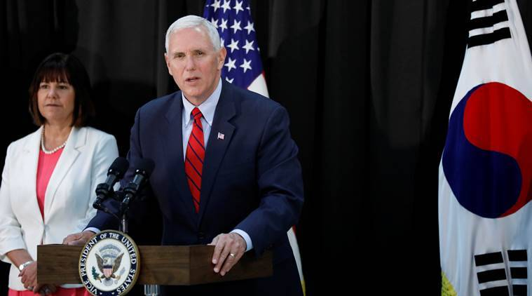 Pence says 'era of strategic patience' is over