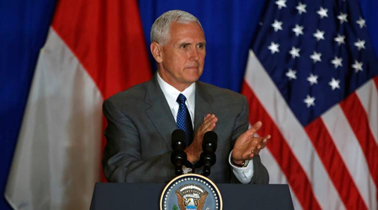 US VP Pence cites 'challenging times' to troops in ...