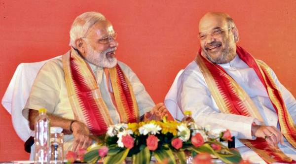 Amit Shah, Amit Shah EVM, EVM tampering, Amit Shah EVM tampering allegations, BJP national executive meeting, BJP EVM tampering, India news, Indian Express