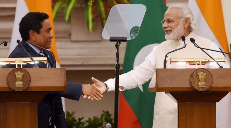 Why is the FTA between China and Maldives important toIndia?