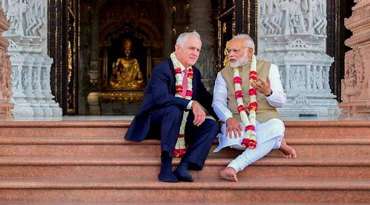 India, Australia, India-Australia relations, India-Australia-MoU, terrorism, organised crime, narendra modi, malcolm turnbull, india news, indian express