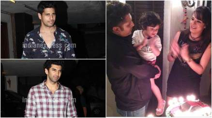 mohit suri birthday party, sidharth malhotra, aditya roy kapur