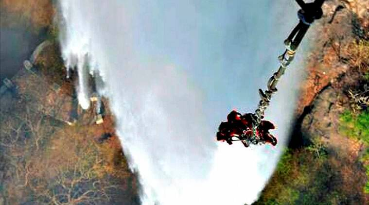 mount abu, mount abu fire, mt abu fire, Bambi Bucket, indian air force, india news, latest news