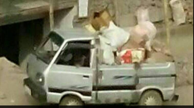 nagaland man cleans garbage himself, naga man cleans garbage, man cleans garbage himself, constable from Nagaland cleans garbage, indian express, indian express news