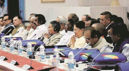 Governing council meet, GST, MCD polls, MCD voter turnout, Delhi by-elections, Tamil Nadu farmers, TN CM meets farmers, farmer protest, Mehbooba Mufti, Kashmiri students, French elections, French elections results, India news, Indian Express