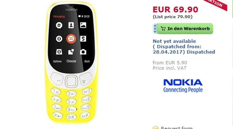 Nokia 3310 specifications and final release date in India