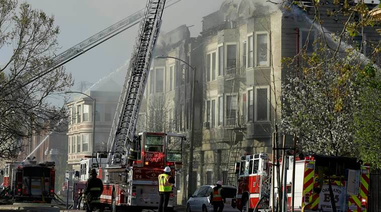 oakland, oakland fire, oakland building fire, oakland news, world news, indian express news