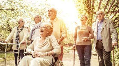 elderly, elderly in the woods, elderly in green spaces, green spaces for elderly well-being, indian express, indian express news