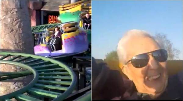 guinness world records, old man breaks guinness world record, 105 year old man rides roller coaster, roller coaster rides, indian express, indian express news