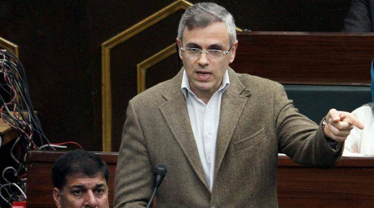 article 35a, jammu kashmir special status, omar abdullah, national conference, centre on jammu kashmir special status, jammu kashmir opposition meeting, indian express, india news