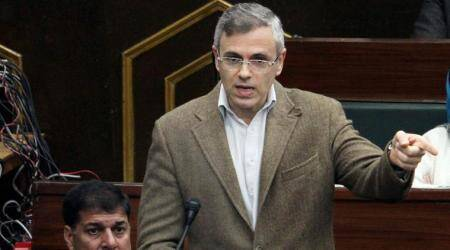 J&K legislature, J&K legislature Article 35 A, Omar Abdullah, National Conference, Omar Abdullah on Article 35 A, indian express news