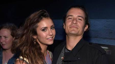 Orlando Bloom and Nina Dobrev get cosy at The Promise premiere, spark dating rumours