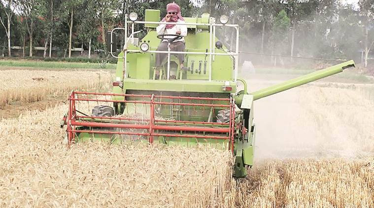 paddy straw burning, Combine harvester, straw management systems, india news, indian express news, latest news