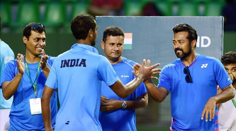 india davis cup squad, davis cup, india vs canada davis cup, leander paes, mahesh bhupathi, india davis cup, tennis news, sports news, indian express