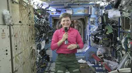 NASA, Peggy Whitson, International Space Station, Expedition 51 commander, cosmonaut Jeff Williams, International Space Station, NASA career in 1980's. first NASA Science officer, Kibo logistics module, Columbus Laboratory,Science, Science news