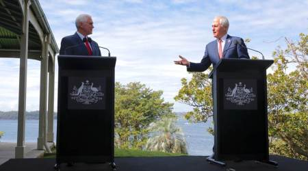 Mike Pence, Mike Pence Australia visit, Mike Pence Asia visit, US-Australia, Prime Minister Malcolm Turnbull, Pence-Turnbull, US-Australia refugee deal, indian express news