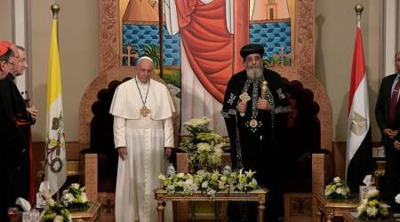 Pope Francis, Egypt, Francis Egypt visit, Egypt's catholic community, Egypt mass, world news, indian express news