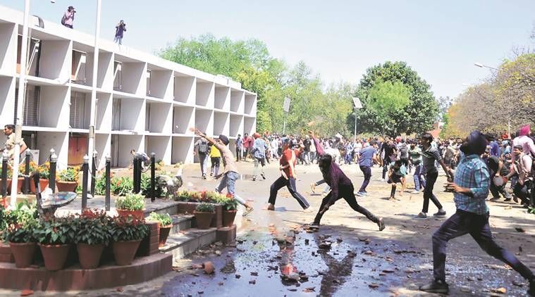 Panjab University, Panjab university protest, PU Protest, sedition charges, fee hike protest, PU violence, india news, indian express news