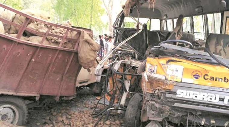 punjab, punjab accident, punjab school children, school children accident, india news, Punjab news