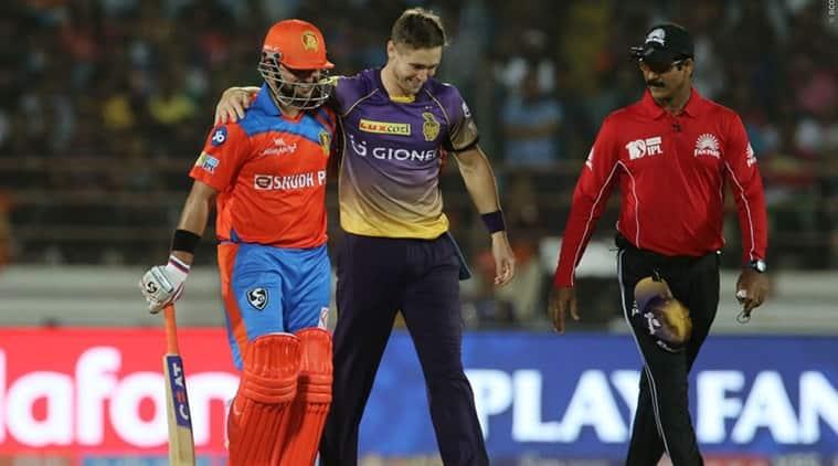 Suresh Raina, Suresh Raina GL, Gujarat lions vs Kolkata Knight Riders, KKR vs GL, Chris Woakes, sports news, sports, cricket news, Cricket, Indian Express