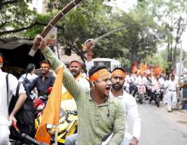 Ram Navami Procession In West Bengal Organised By Hindu Jagran Manch