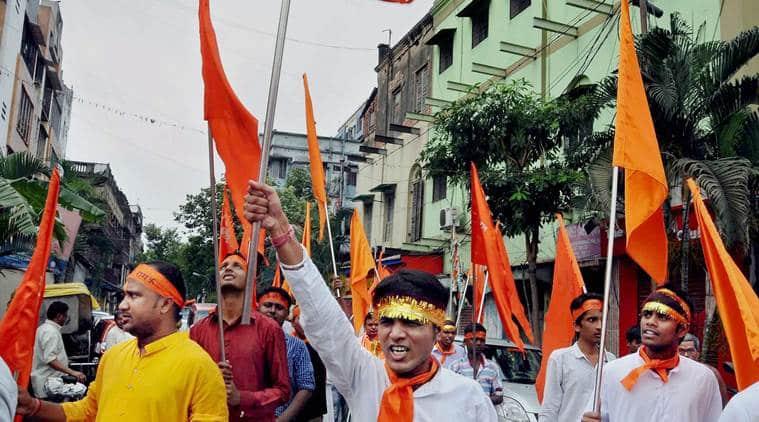 Ram Navami, Ram Navami West Bengal, Ram Navami Kolkata, Ram Navami celebrations, Mamata Banerjee, RSS, BJP, BJP West Bengal, RSS-BJP, RSS West Bengal, Indian Express, India news