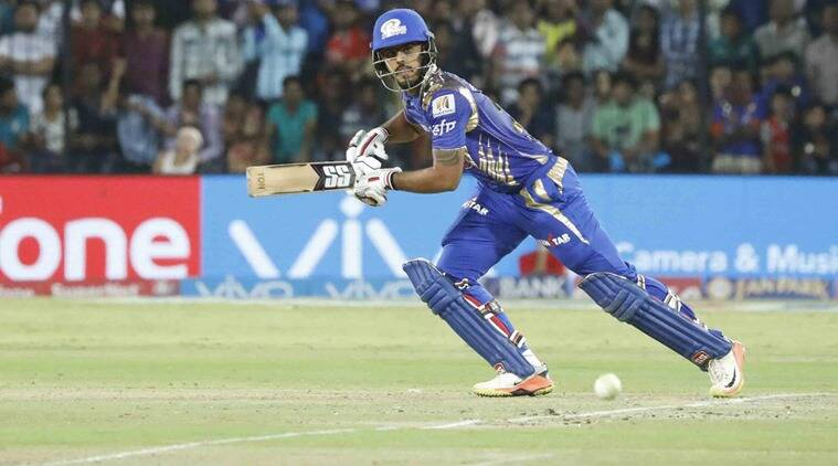 IPL 2017, IPL 2017 news, MI vs KXIP, Nitish Rana, Nitish Rana MI, Mumbai Indians Nitish Rana, Nitish Rana batting, sports news, sports, cricket news, Cricket, Indian Express