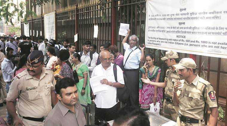 not exchange, rbi office mumbai, demonetisation, old note exchange last day, indian express