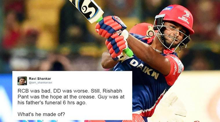 Rishabh Pant, Rishabh Pant father, Rishabh Pant father death, Rishabh Pant DD half century, Rishabh Pant performance after father death, Rishabh Pant inngings after father funeral, Rishabh Pant India, India Rishabh Pant, Virender Sehwag, sports news, sports, cricket news, Cricket, Indian Express, social media news
