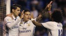James Rodriguez scores brace as Real Madrid crush Deportivo 6-2