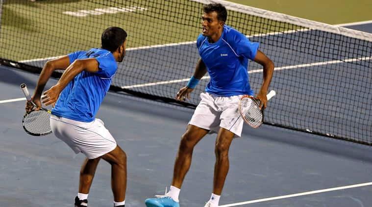Image result for Rohan Bopanna, Shriram Balaji, Davis Cup