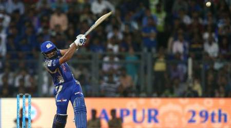 rohit sharma, rohit sharma wide ball, harbhajan singh, bhajji, mumbai indians, rising pune supergiant, mi vs rps, ipl 10, ipl 2017, ipl news, sports news, cricket news, indian express