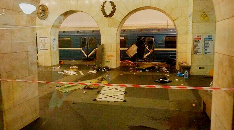 Death in St Petersburg subway bombing now 14